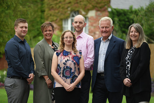Eurolink's Senior Management Team (L-R) - Jamie Lewis, Commercial Manager | Claire Maddox, Managing Director | Marianne Carter, Operational Governance & Compliance Manager | Noel Hoskins, Head of Technical Design & Delivery | Derek Maddox, CEO | Tracy Robinson, Finance Director